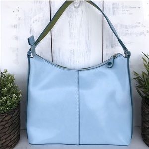 Mondani vintage shoulder bag blue green w/ detail